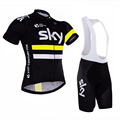 2016 Team sky Pro Cycling Jersey Short Sleeve Cycling clothing Breathable Mountain Bike Clothes Quick Dry