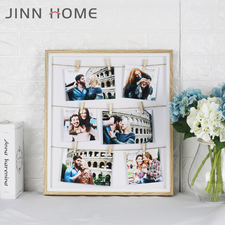 Personalized Lover Wood Glass Funia Photo Frame Multi Family Pictures Wedding Decoration