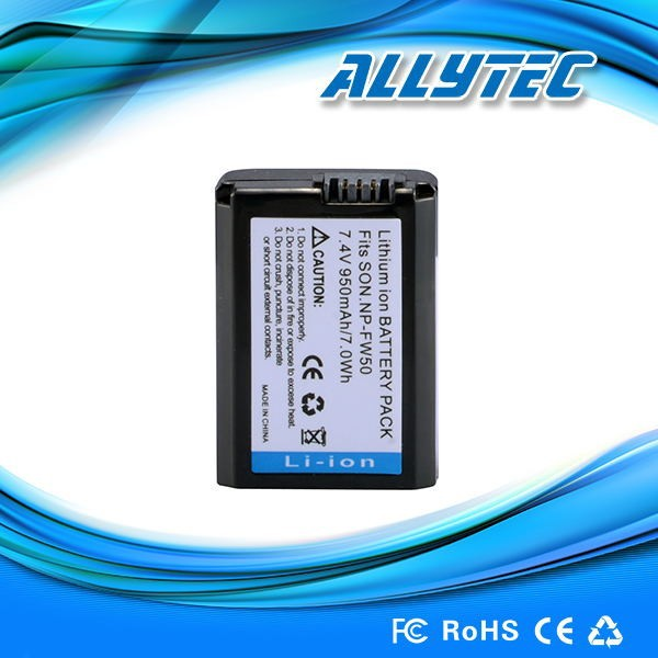 7.4v rechargeable lithium ion battery NP-FW50 for Sony NEX-F3 NEX-6