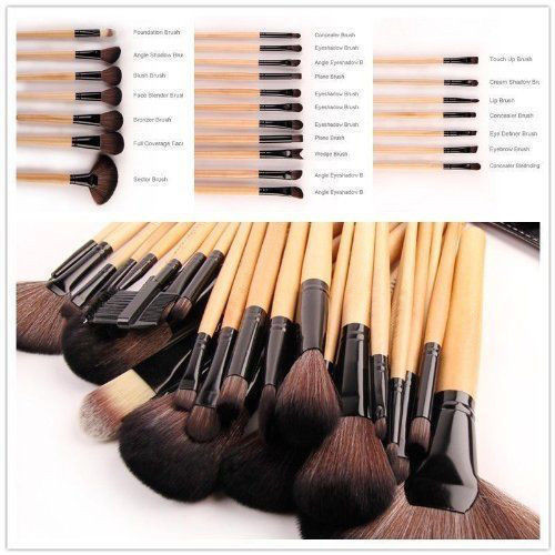 bobbi brown brushes uses. 24pcs professional set brush cosmetic kit case black for bobbi brown makeup brushes uses k