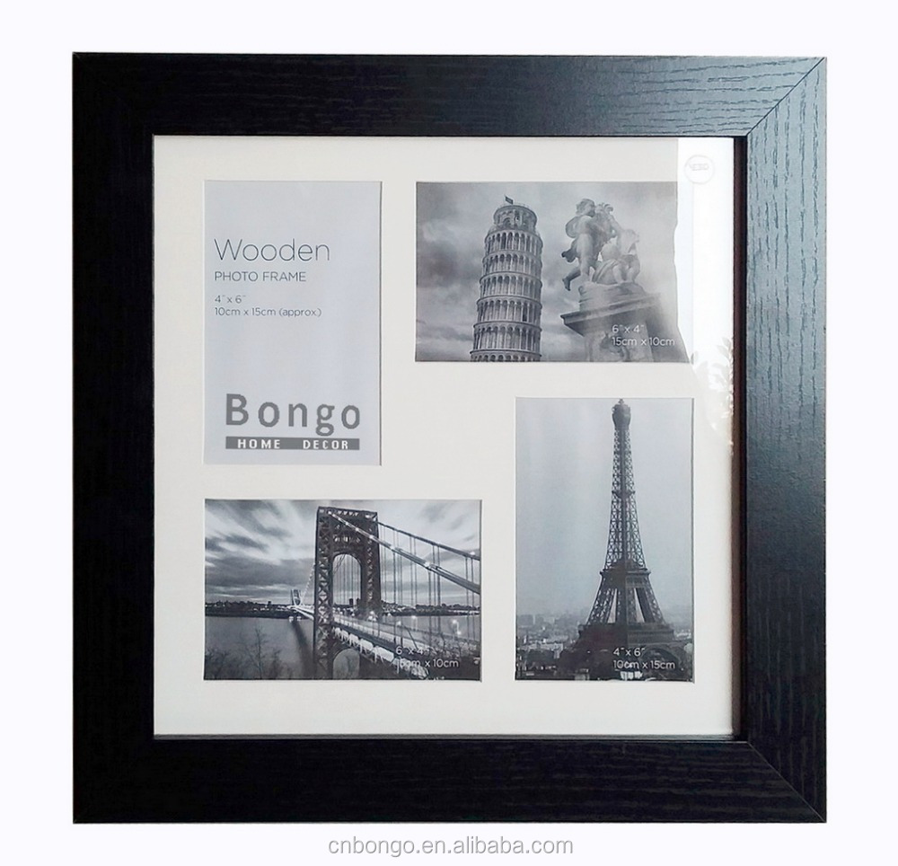 wooden multi photo picture frame