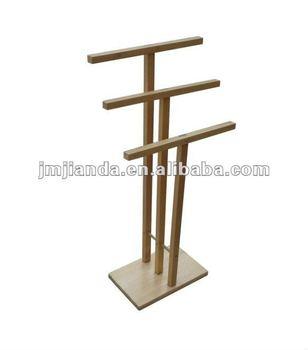 standing towel rack. Wooden Standing Towel Rack B