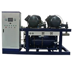 Cold Storage Screw Type Water Cooled Chiller with double compressors