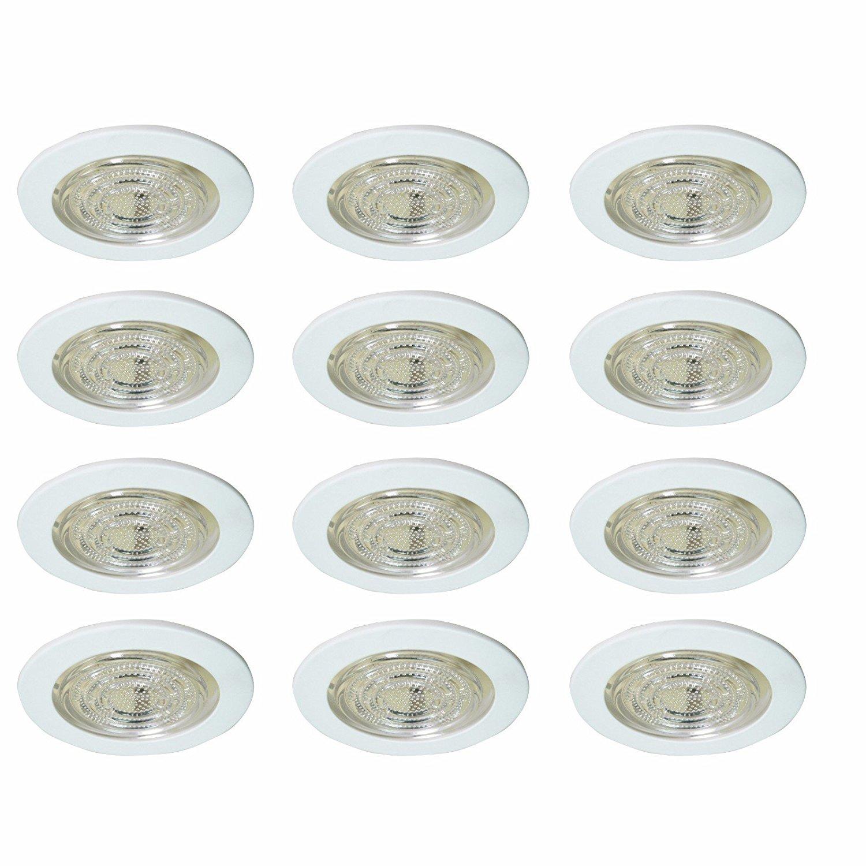 4 Recessed Light ALL SHINY Clear CHROME REFLECTOR TRIM 120V R20 PAR20 Baffle Ring