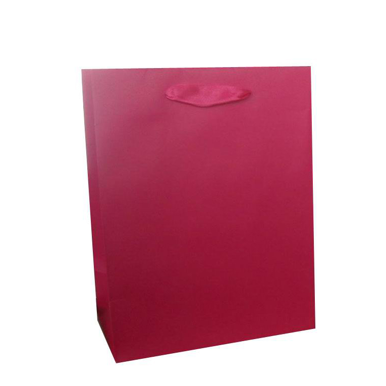 Luxury Durable Custom Printed Retail Red Glossy Wine Bottle Packaging Gift Paper Bag With Rope Handle