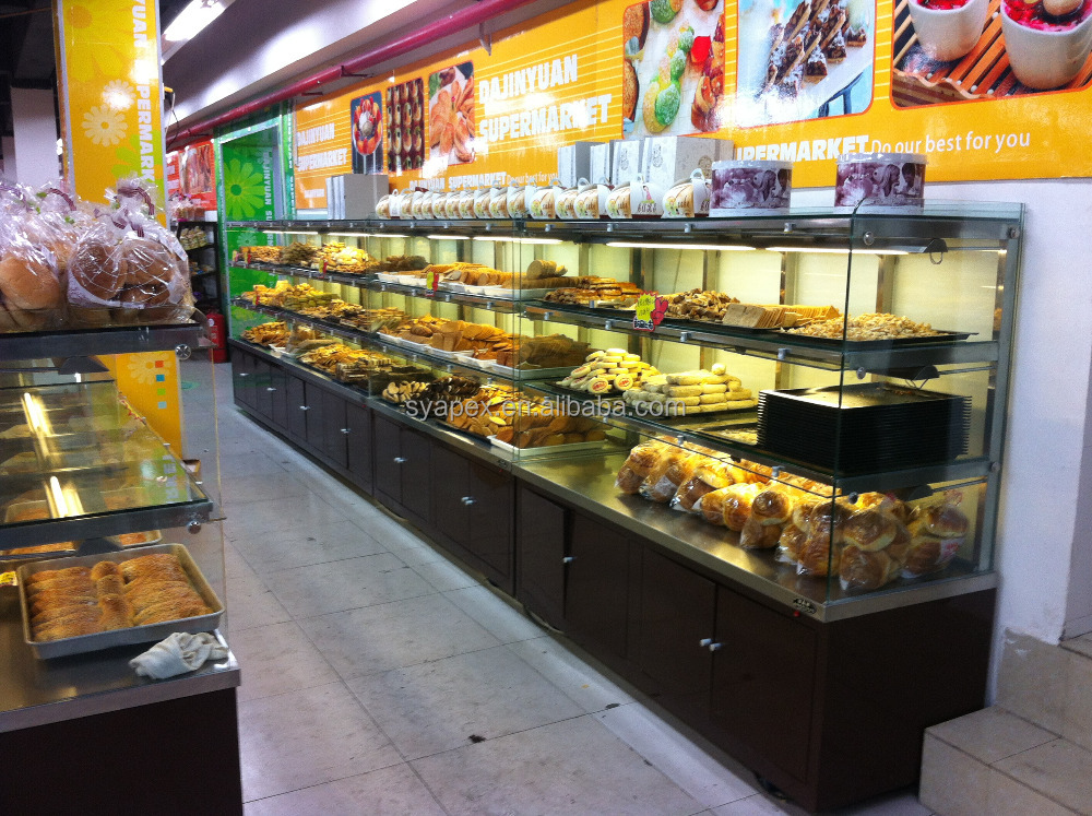 Apex Supermarket/store Single Side Bakery Display Cabinet - Buy ...