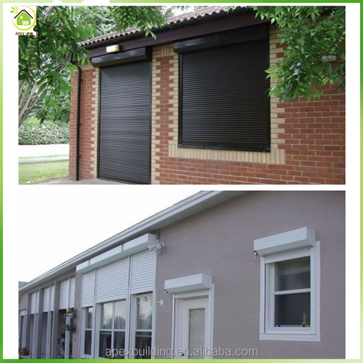 European Standard Insulated Summer & Winter Aluminum window roller shutters automatic remote controlled