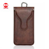 High Quality With Hook Italian Universal Maganet Flip Waist Holster Leather Pouch Case for Iphone 7 Plus Samsung Smart Phone