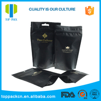 custom printed food aluminum foil stand up pouch with zipper