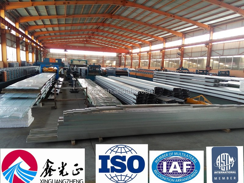 wall and roof EPS/PU rock wool sandwich panel board used for steel house