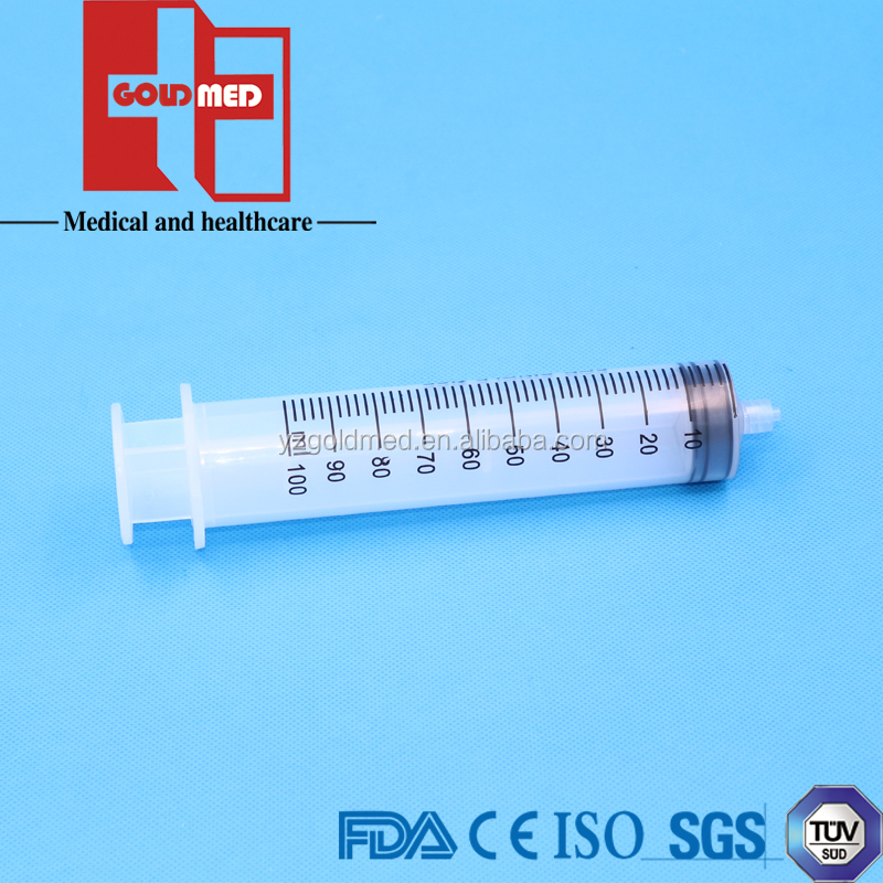 100 ml Hypodermic Disposable Syringe Without Needle