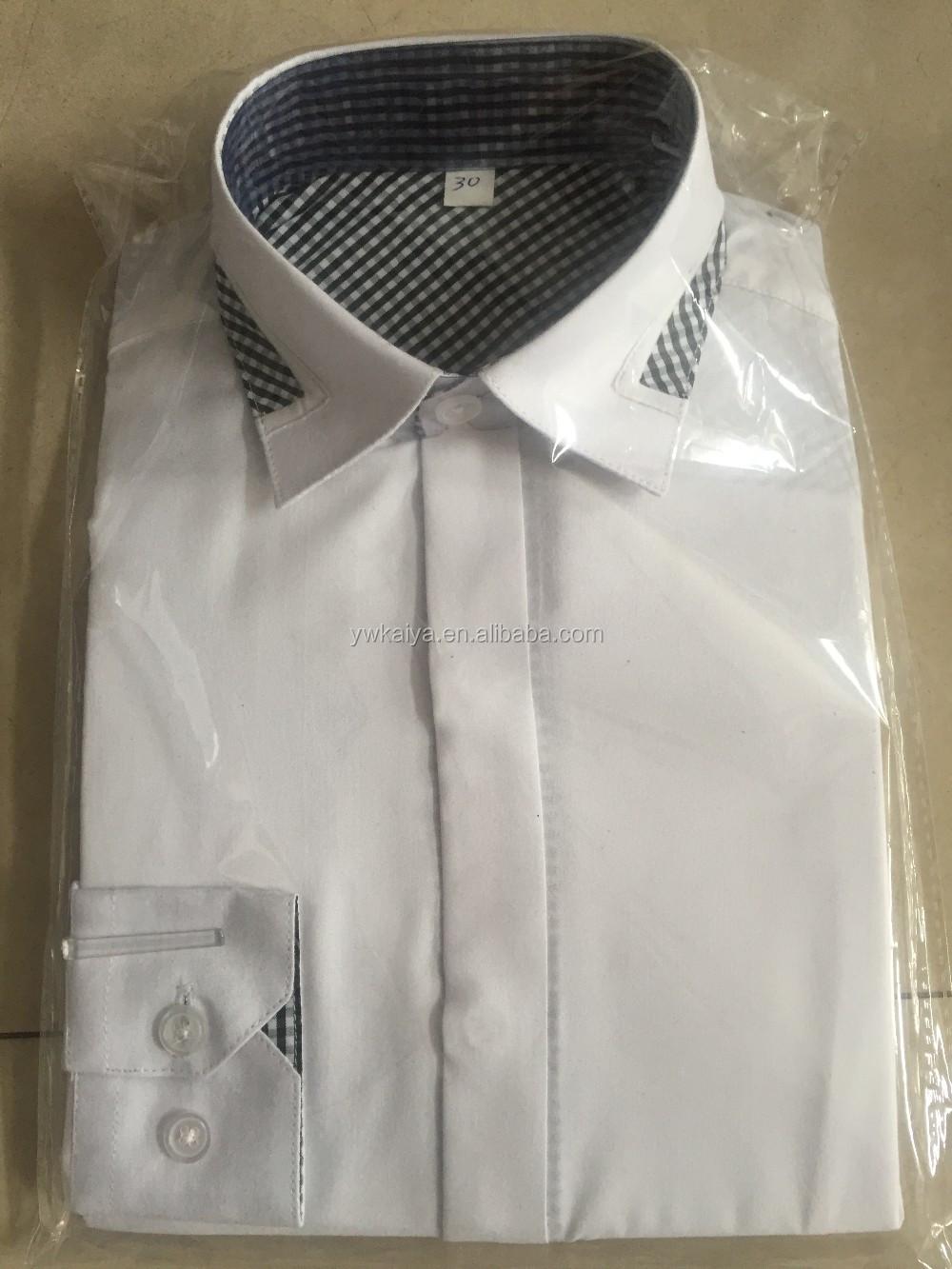 Shirt design boy 2016 - 2016 Boutique Clothing Boy School Shirt Fancy Design Invisible Placket Tc Fabric White Color Clothes To
