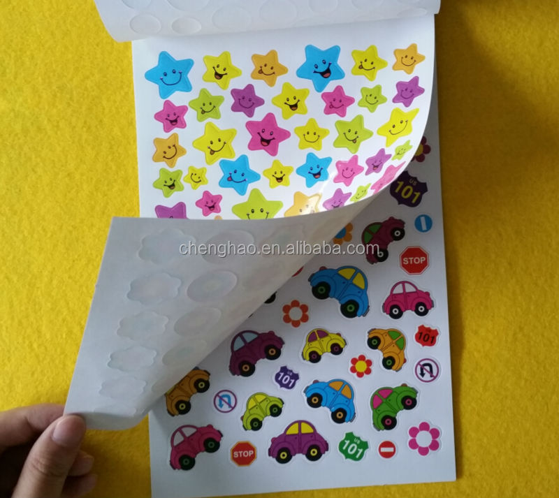 custom kids self adhesive animal sticker book for promotional stationery