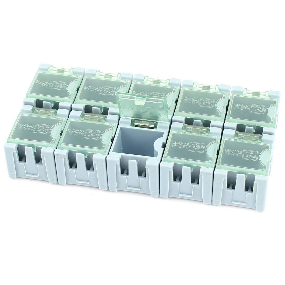 Aexit 10 Pcs Tools & Equipment Plastic SMT SMD Electronic Components Storage Tool Boxes Box Organizer