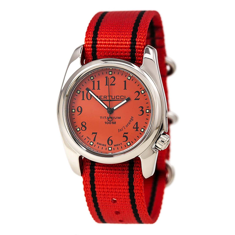 6b2d552a30c Bertucci A-2T International Orange Watch with Polished Titanium Case 12063