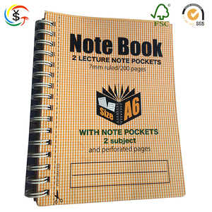 Custom new design school student thick spiral notebook