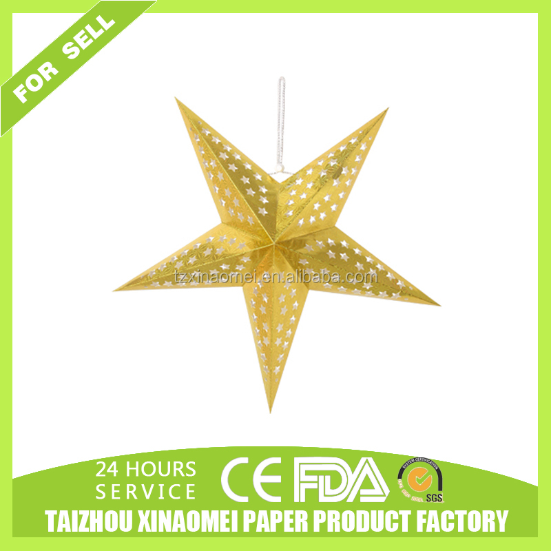 Hanging Paper Star lanterns for Christmas Decoration Items