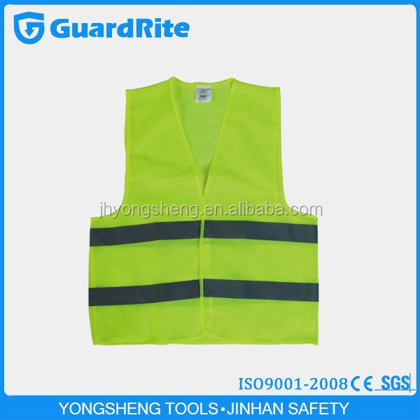 GuardRite Brand Protective Disposable Road Warning Reflective Safety Vest
