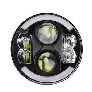 DOT and Emark 80watts 7inch round auto led headlight