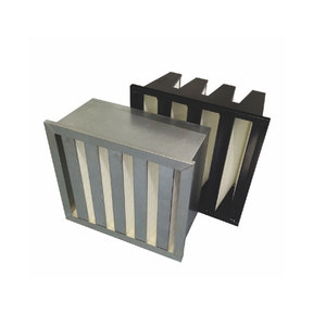 HEPA V bank box filter for air handling unit AHU