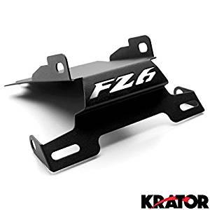 Krator® Yamaha FZ6 Fazer Fender Eliminator Black Logo Plate Holder (2006-2008) Fender Eliminator License Plate Holder Tidy Tail Billet Aluminum Motorcycle Black