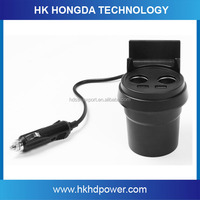 Cupholder Adapter 3.1A Car Charger w/2-USB Ports for iPad, Tablet PC
