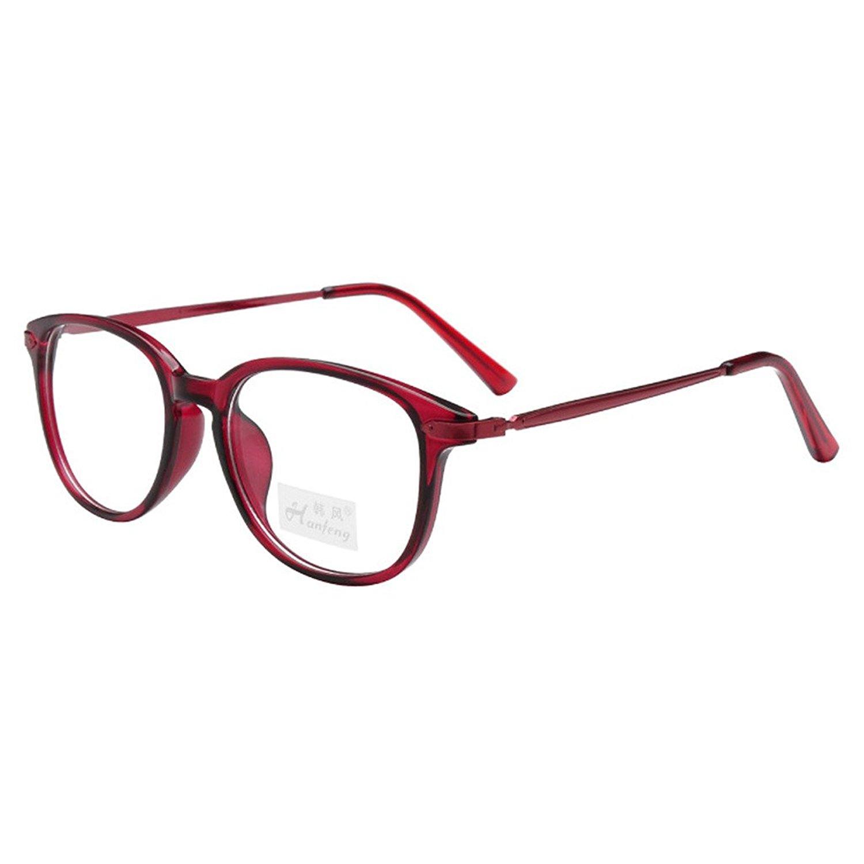 6b85d043f8 Get Quotations · Simvey Unisex Classic Retro Designer Oval TR90 Metal Eyeglass  Frames 49mm