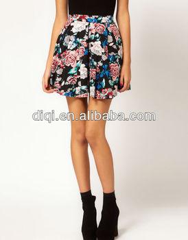 Últimas floral mini falda para las chicas jóvenes dama verano nuevo diseño 2a2d5063ac20