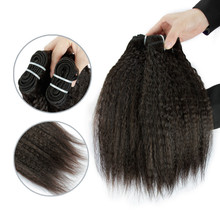 New hair type for Indian afro kinky straight human hair extention