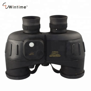 Chinese Waterproof Military Marine Reticle Rangefinder Distance Measuring Compass Binoculars 7x50 Navigation Boating Fishing