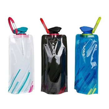 Water Bottle, Flexible Collapsible Foldable Reusable Outdoor 700ml Water Bottles