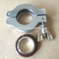 Aluminum vacuum quick kf flange clamps and center ring and rubber gasket