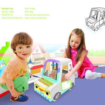 Kids Folding Cardboard Paper House Coloring Playhouse Toy Kit - Buy ...