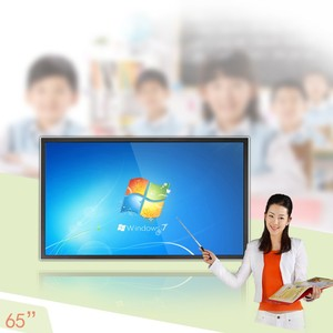 Factory 65 inch, 70 inch multi touch interactive led tv & pantalla tactil lcd led tv for school
