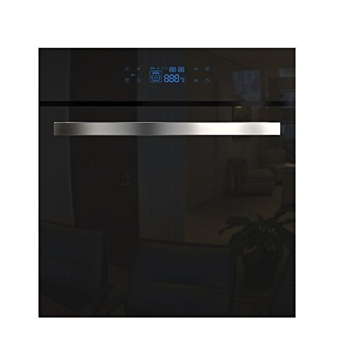 "Empava 24"" Tempered Glass Electric Push Buttons Control with Digital Display Built-In Single Wall Oven EMPV-24WOC17"