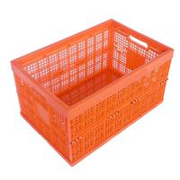 plastic handle vegetables collapsible vegetable storage crates hamper basket bins for sale
