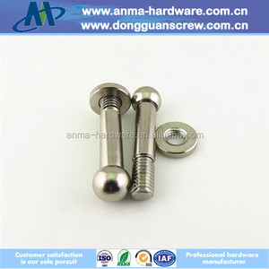 Nickel plated M6 ball head screw