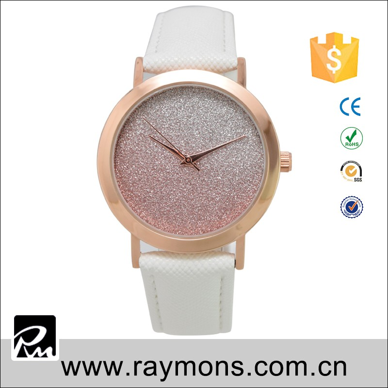 2016 top custom design brand alloy case and stainless steel case back watch ladies