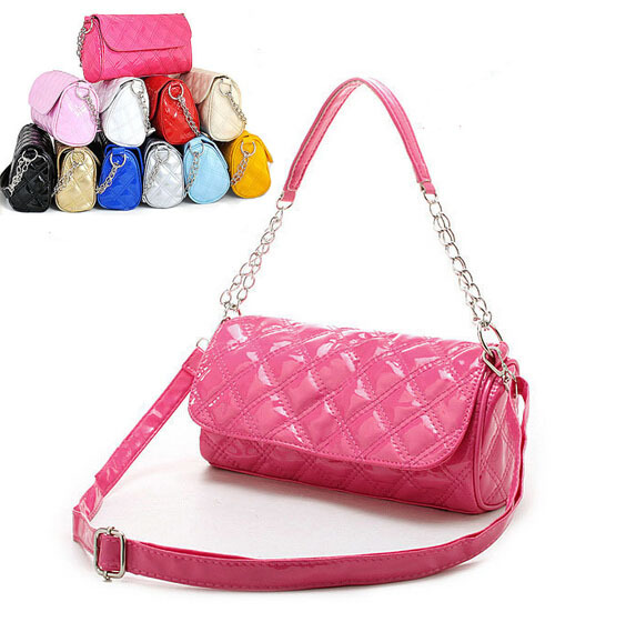 fa3f30bebc4d Get Quotations · Candy Genuine Patent leather women messenger bags Chain  Ladies Handbags over the shoulder mini pouch capa