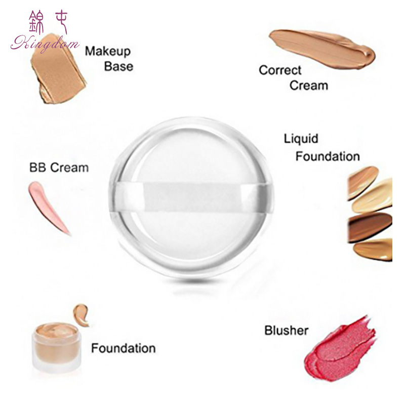 Transparent Silicone Puff Diaphanous Sponge Foundation Powder Cosmetic Silica Gel Makeup puff Blender Blending