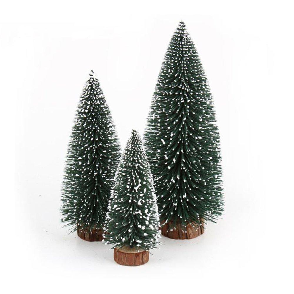 DEBON Christmas Decorations Mini Christmas Tree Pine Knit Velvet Snow White Christmas Tree Snow Christmas Tree (50 cm)