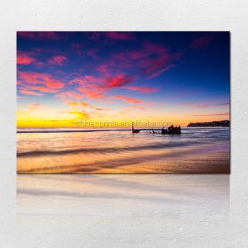 Ocean Waves Canvas Picture Seascape Wall Art Famous Sailboat Oil ...