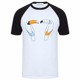 Mens Two Tone Color Block T Shirt Hip Hop T Shirts Oversized Tee Longline T Shirts