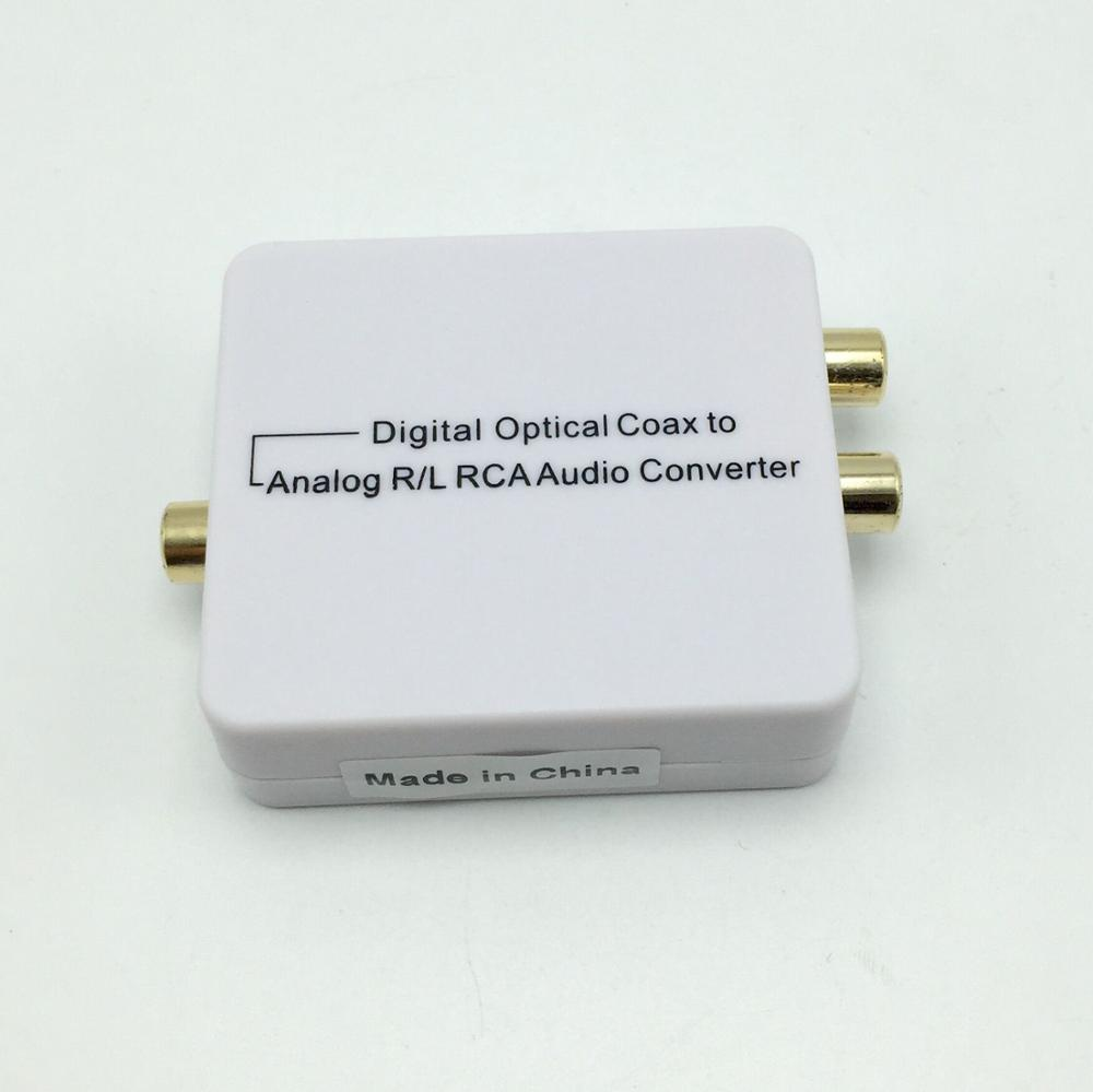 Digital Optical Coax to Analog R/L RCA Audio Converter