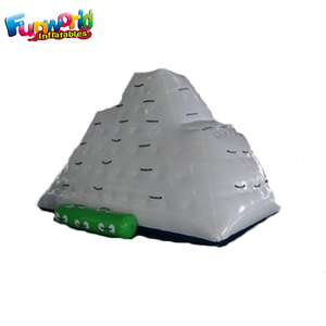 Inflatable floating iceberg climbing wall inflatable water games for adults
