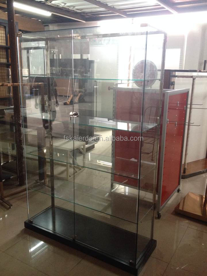 Retail Free Standing Glass Display Cabinet For Sale/glass Display ...