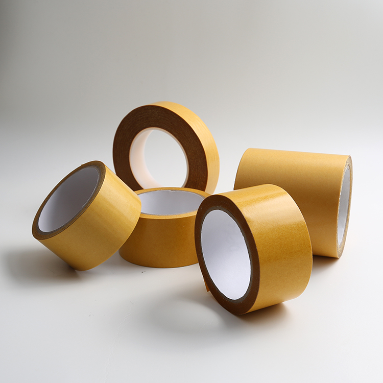 Double sided fiberglass mesh tape with reinforced polyester fibers