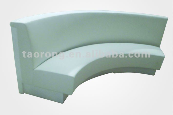 curved bench seating indoor
