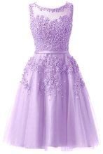 Коктейльное платье It's YiiYa, розовое свадебное платье с аппликацией и бисером, вечерние платья до колена с цветочной иллюзией, LX073-2(China)