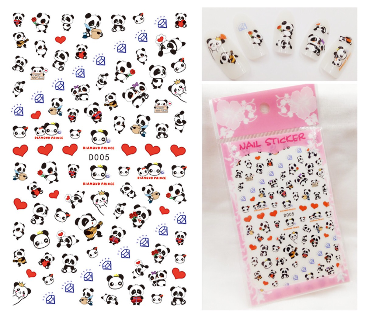 D001-010 Japan And Korea New Cartoon Nail Stickers Japanese Nail ...